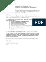 Examination Guidelines for Bmom 5203 Obm