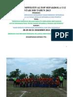 PROPOSAL CAMPFESTIVAL SEPAKBOLA U12 ANTAR SSB TAHUN 2013