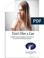 Don't Hire A Liar