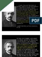 Albert Einstein the Agnostic