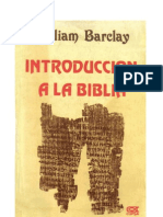 William Barclay Introduccion a La Biblia
