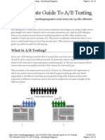 The Ultimate Guide to AB Testing
