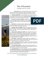 Ten Essentials of Hiking