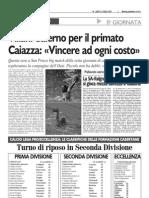 VILLANI - SALERNO PER IL PRIMATO