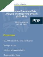 NC CEDARS Presentation 2009 Conference