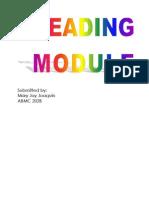 Reading Module