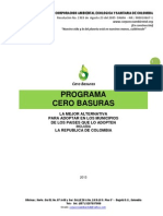 Informe Ejecutivo Programa Cero Basuras Abril 2013
