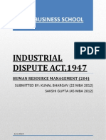 Industrial Dispute Act 1