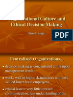Organizational Culture and Ethical Decision Making