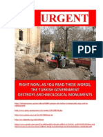 TURKISH GOVERNMENT DESTROYS ARCHAEOLOGICAL MONUMENTS