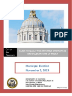 2013 San Francisco City Guide for Qualifying a Voter Initiated Code or Policy Change