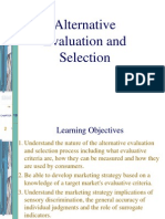 Alternative Evaluation and Selection