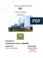 Vocational Training Report on Ntpc Faridabad (2)