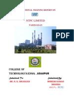Vocational Training Report on Ntpc Faridabad