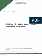 Ejemplos de Actas Inventario.