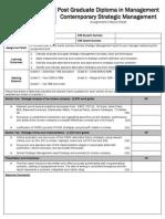 Contemporary Strategic Management Assignment Criteria Sheet