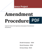 Amendment Procedure - Political Science