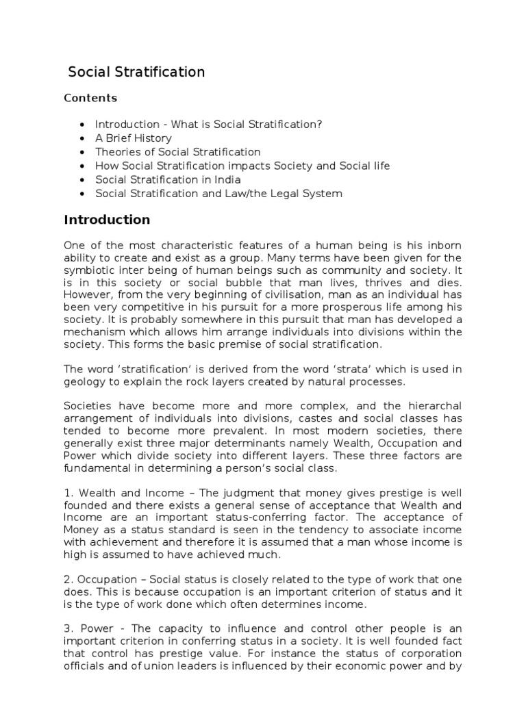 social stratification social stratification wealth