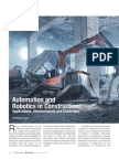 Article on 'Automation and Robotics in Construction' by Chaitanya Raj Goyal
