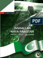 PTI Manifesto 2013