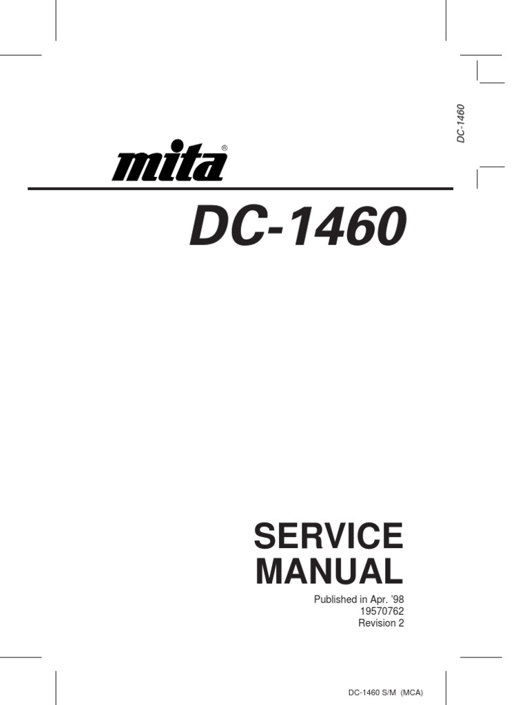 Service Manual: Published in Apr. '98 19570762 Revision 2