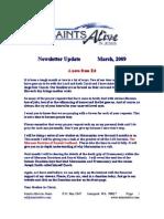 Newsletter Update March 2009