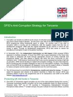 DFID's Anti Corruption Policy For Tanzania