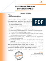 ATPS - Contabilidade Avançada I