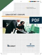 Liebert GXT-MT (1 - 3 kVA) - 50HZ - Brochure