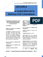Mr 6 Cultura Corporativa de La Defensa Civil Colombiana