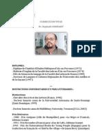 CV du Pr Raphaël CONFIANT
