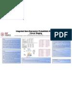 Integrated Gene Expression Probabilistic Models for Cancer Staging