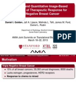 Qualitative and Quantitative Image-Based Biomarkers of Therapeutic Response for Triple Negative Cancer