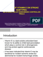 Effects of Vitamin E on Stroke Subtypes