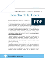 PERTINENCIA DE LA BIOÉTICA EN LOS DERECHOS HUMANOS Y DERECHO DE LA TIERRA