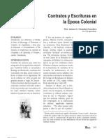 Contratos y Escrituras en La Epoca Colonial