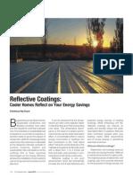 Article on 'Reflective Coatings' by Chaitanya Raj Goyal