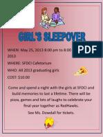 Girls Sleepover Poster
