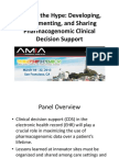 Beyond the Hype-Developing, Implementing and Sharing Pharmacogenomic Clinical Decision Support