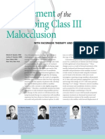 Management of the Developing Class III Malocclusion with Face Mask Therapy and Palatal Expansion