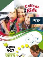 NMC College for Kids Catalog - Summer 2013