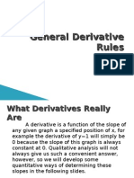 Part 1 - General Derivative Rules