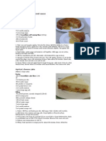 Cakes - Large recipes