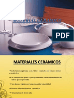 MATERIAL CERAMICO Ciencia de Los Materiales Diapositivas