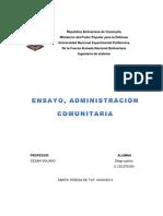 Diego Palma Ensayo de Administracion Comunitaria