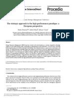 Strategic Aproach to High Performance Paradigm
