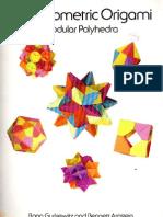 Geometric Origami Modular Polyhedra
