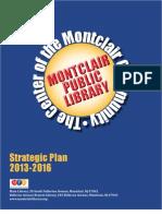 Montclair Public Library Strategic Plan 2013-2016