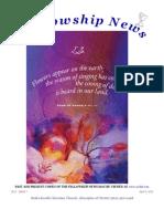 April 9, 2013 Fellowship News