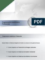 Programación Académica y Profesorado